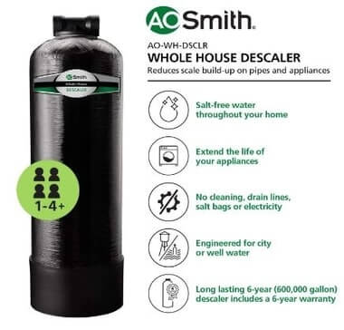 AO Smith Whole House Salt-Free Water Descaler