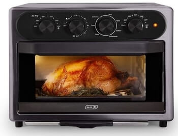 DASH DAFT2350GBGT01 Chef Series 7 in 1 Convection Toaster Oven Cooker