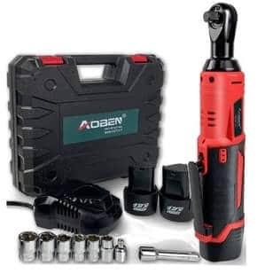 AOBEN 5808 Cordless Electric Ratchet Wrench Set