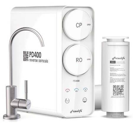 Frizzlife PD400 Tankless Reverse Osmosis Under Sink RO Filter System