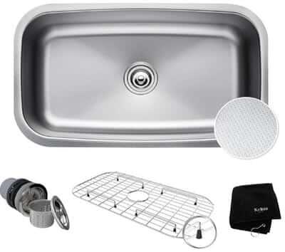 Kraus KBU14E MicroShield Kitchen Sink