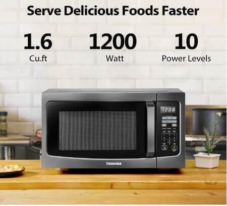 Toshiba 1.6 cu. ft. 1200 Watts Microwave Oven Countertop with Smart Sensor
