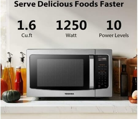 Toshiba EM45PIT countertop microwave oven
