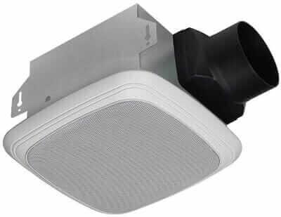 Homewerks 7130-04-BT Ceiling Mount Bathroom Fan with Bluetooth Speaker