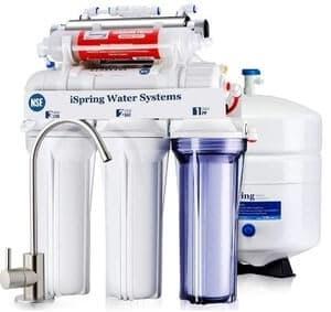 iSpring RCC7AK-UV 7 Stage Under Sink RO Drinking Water Filtration System